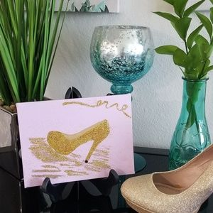 Acrylic Paint Gold Shoe